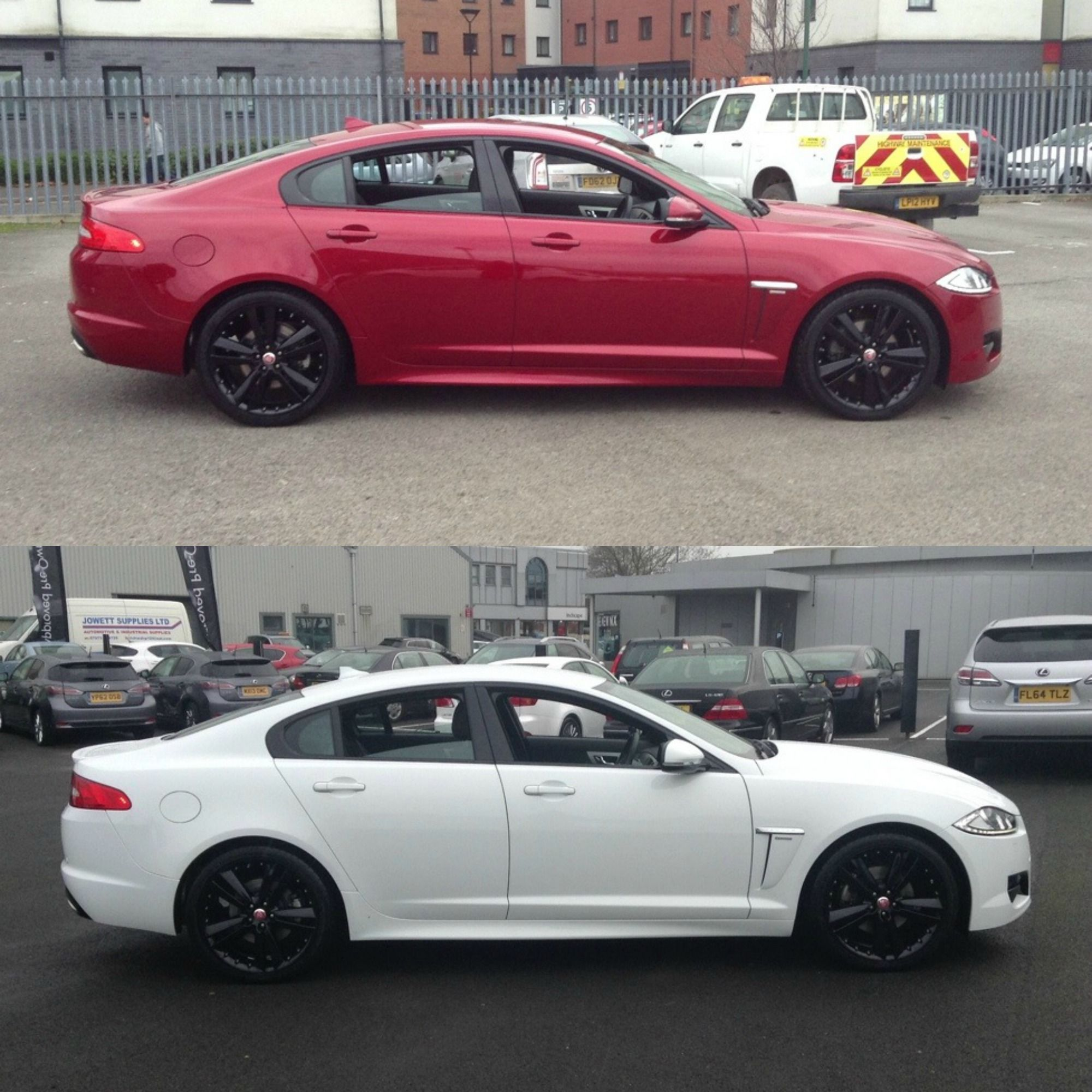 Jaguar Sport: Jaguar XF R-Sport D. (White Or Red With Black Hubs And Rims