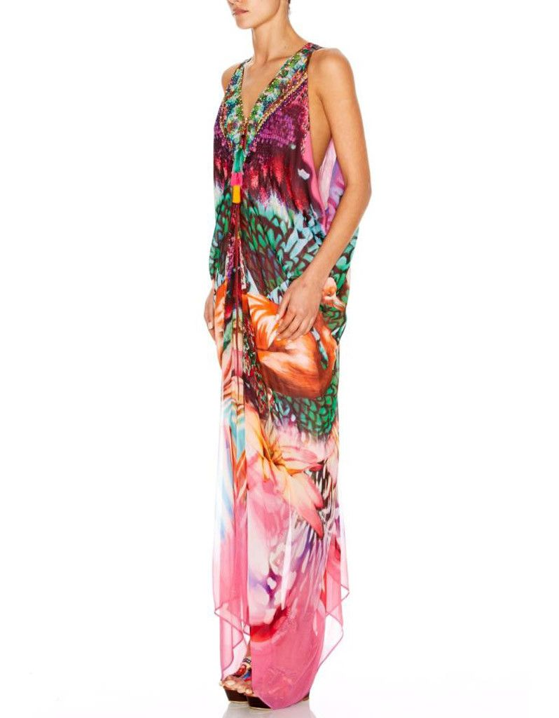 Camilla long drape dress with zip front products pinterest