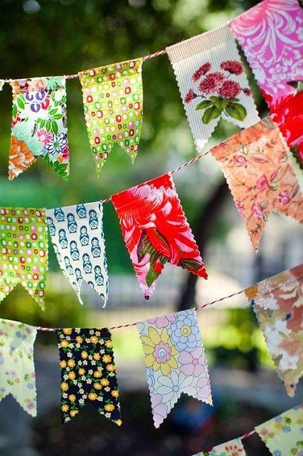 Флажки из ткани для детского сада своими руками 42