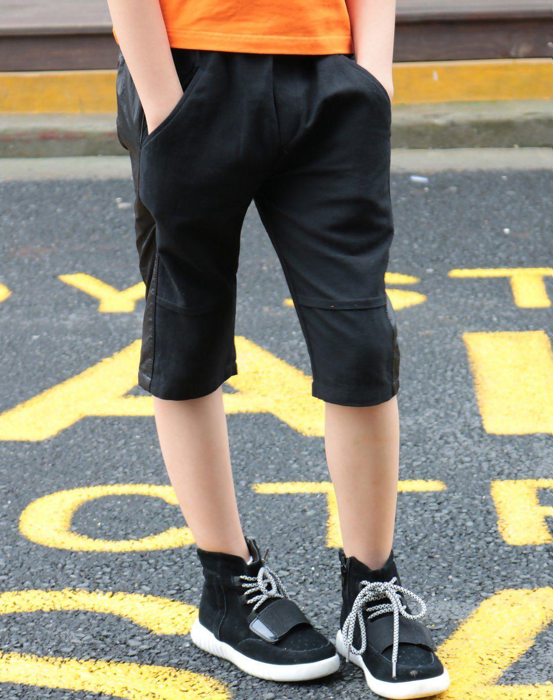 Black summer paneled boysu shorts fashion designers boys and shorts