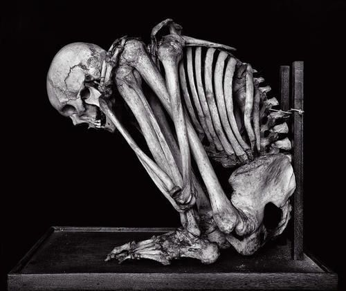 classic burial posture