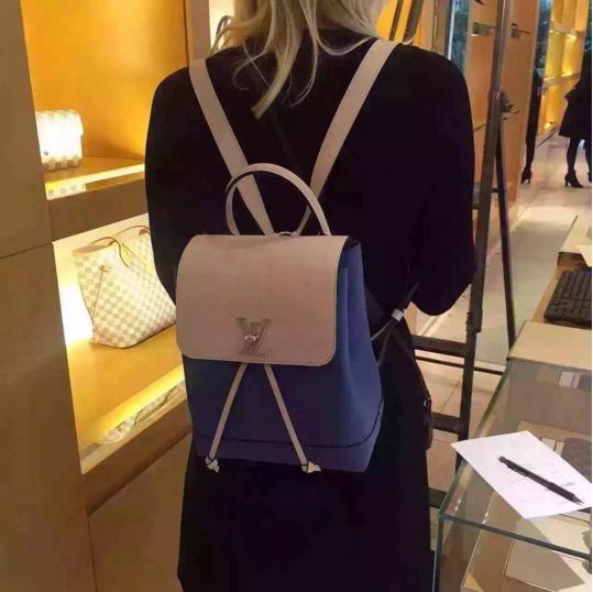 Louis Vuitton Denim Creme Lockme Backpack Bag 1  3b7352ffbc66e