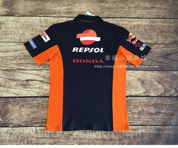 100 Baumwolle Motorrad Dirt Bike Jersey HRC Repsol für Honda PoloHemd Motocross Team Racing TShi 100 aller Qualitätsgewebe ineinander greifen Es verfügt &u...