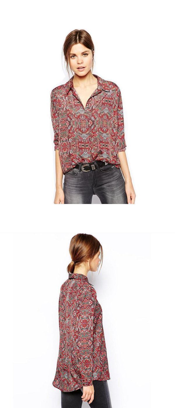 Women 8217 S On Down Blouses Printed Blouse Long