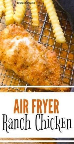 Easy 5-Ingredient Ranch Chicken (Air Fryer) #airfryerrecipes