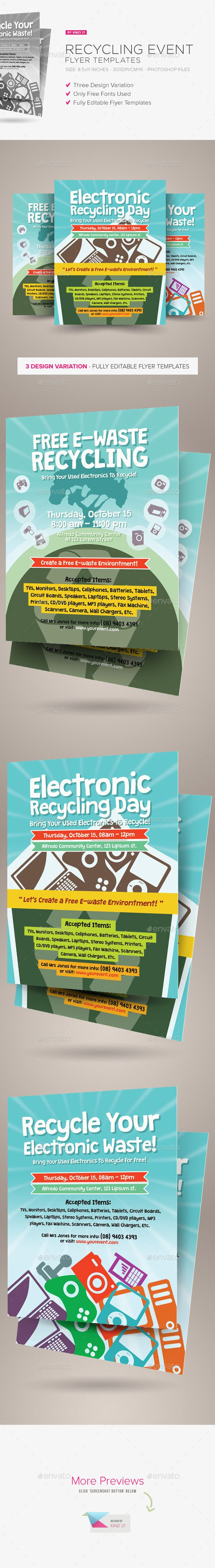 recycling event flyer template flyers posters events pinterest