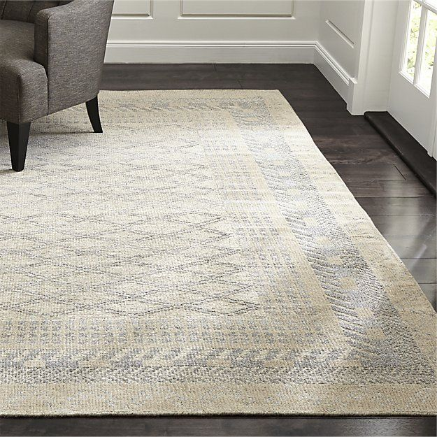 1300 8x10 Upstairs Landing Rosalie Neutral Hand Knotted Oriental Rug