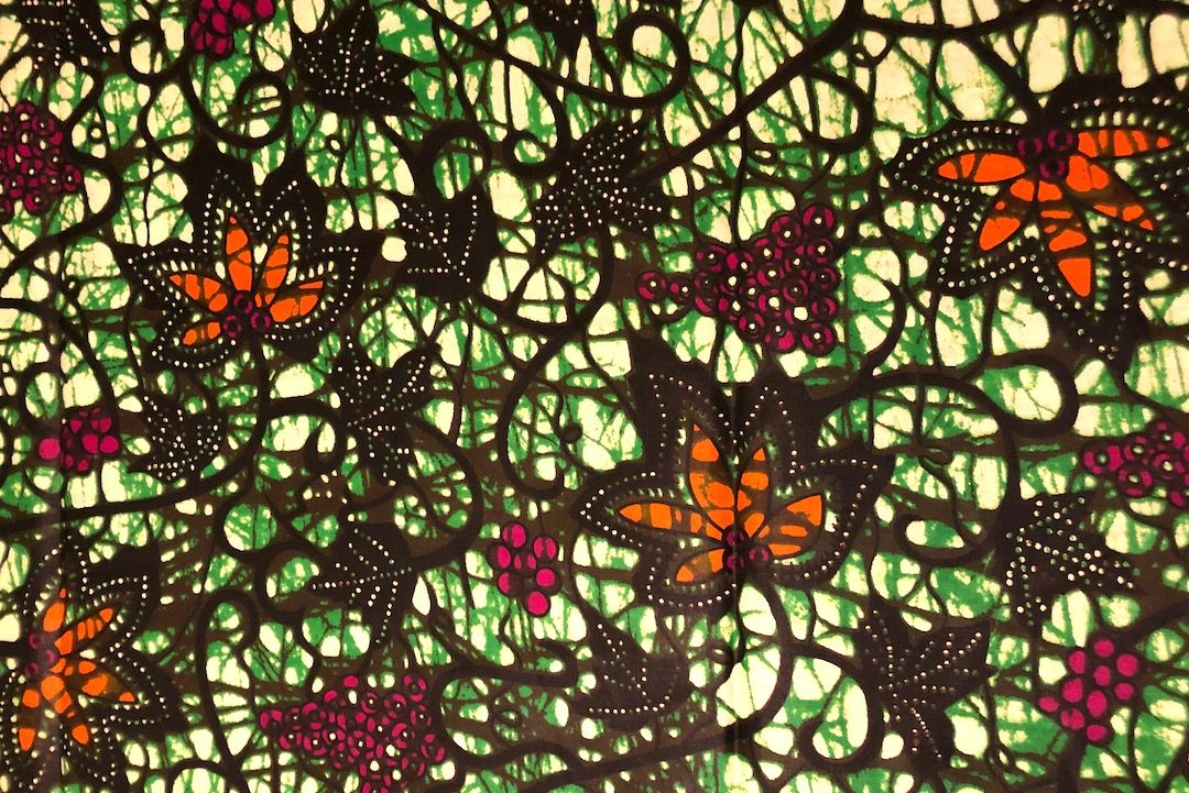 Afrikanischer Wax Print Stoff Ethnostoff Waxprint Nahen Afrika