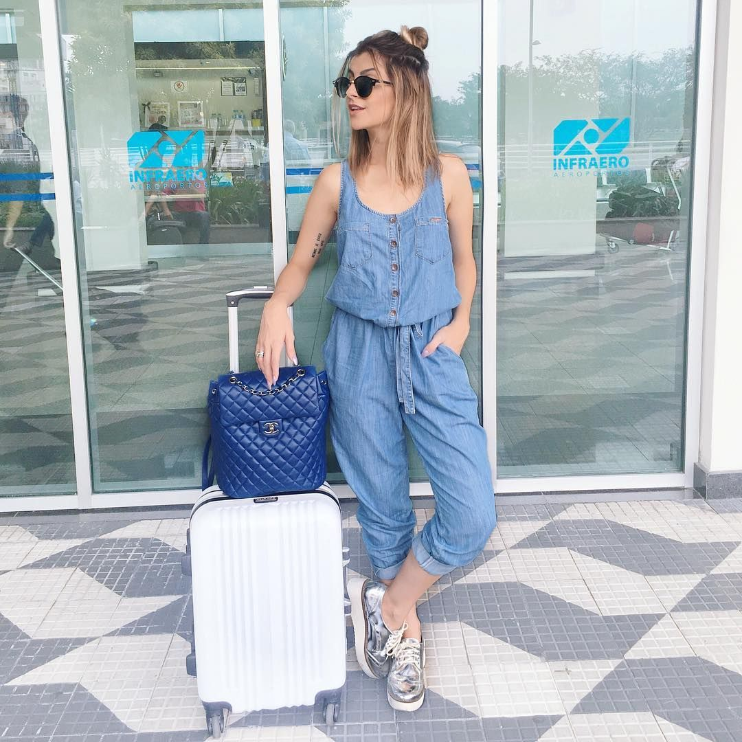 8d26ffe4d07f8 In Her Shoes  Nah Cardoso   Airport Style   Roupas, Macacão jeans e ...