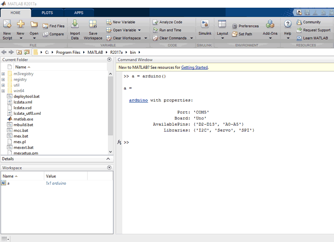 Arduino properties on MATLab | Arduino Projects in 2019