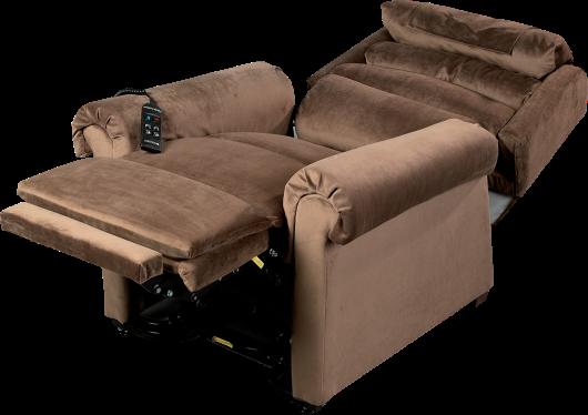 Fauteuil releveur CONFORT LUXE en velours Soft Touch bronze