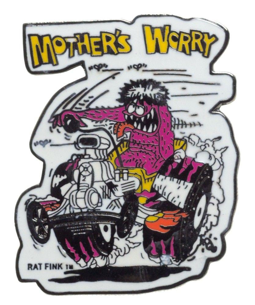 ED ROTH MOTHERS WORRY ENAMEL PIN $5.00 #edroth #pin #ratrod #lowbrow