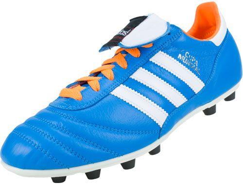 Mens Adidas Copa Mundial Firm Ground Blue Orange Football Boot Free Shipping
