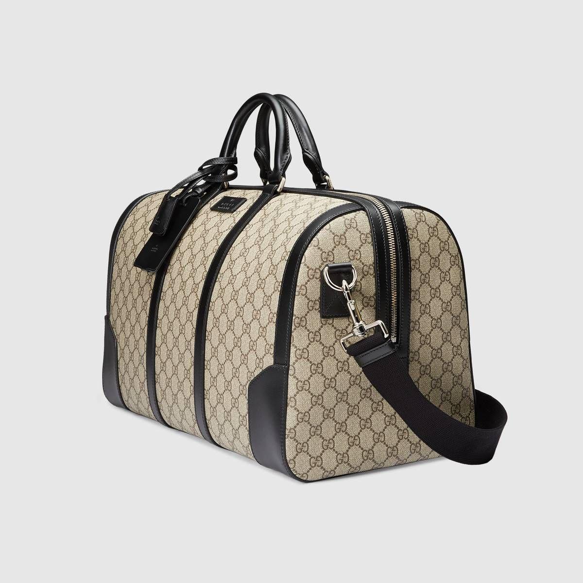 aab4510465 GG Supreme duffle in 2019   M. Bag Travel   Duffel bag, Bags, Womens ...