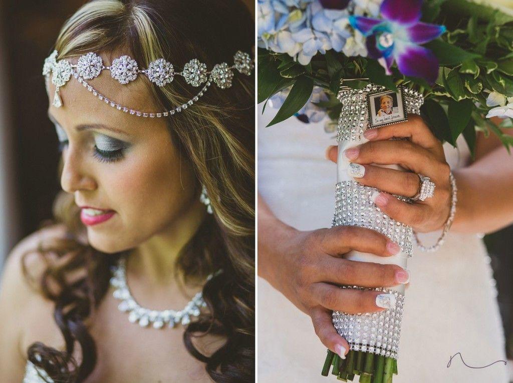 bridal hair accessory jeweled headband for bride nyc wedding