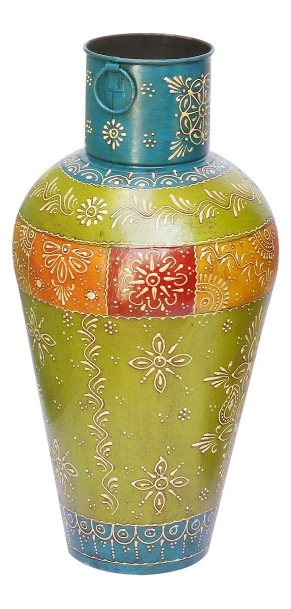 Bulk Wholesale Handmade 18 Flower Vase Pot In Iron Enhanced With