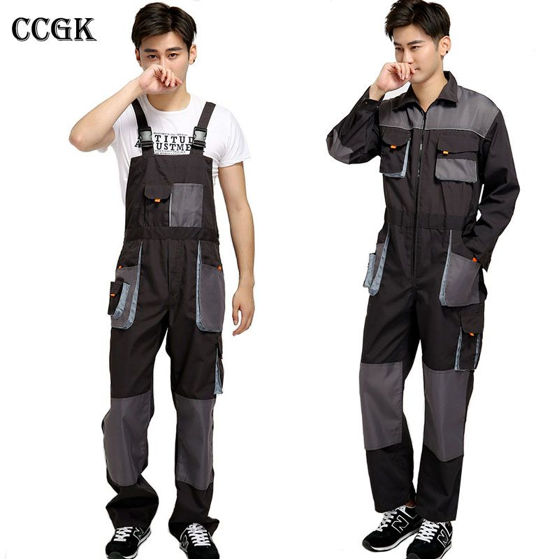 ccgk kombinezon na szelkach pasek mężczyzn mechanik pracy on cheap insulated coveralls for men id=28608