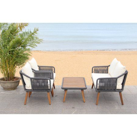 Patio & Garden   Outdoor balcony furniture, Conversation ... on Safavieh Raldin id=90555