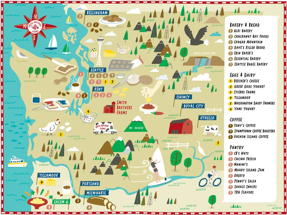 Illustrated Map Of Vendors