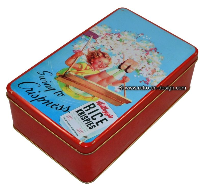 Kelloggs Cereal Frosted Flakes Rectangular Cake//Cookie Tin Green