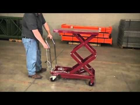 Northern Industrial Hydraulic Lift Table 770 Lb Capacity