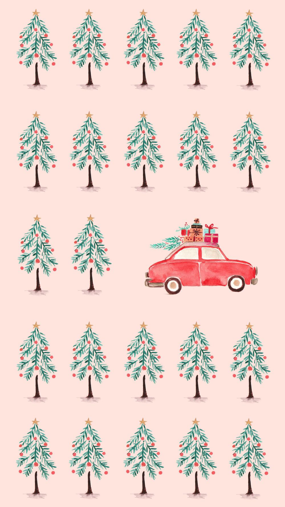 Fun (and free!) Holiday & Winter Phone Wallpapers in 2020