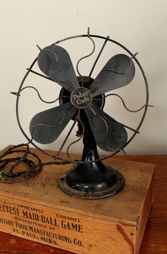 1920 S Polar Cub Electric Fan Antique Electric Fan