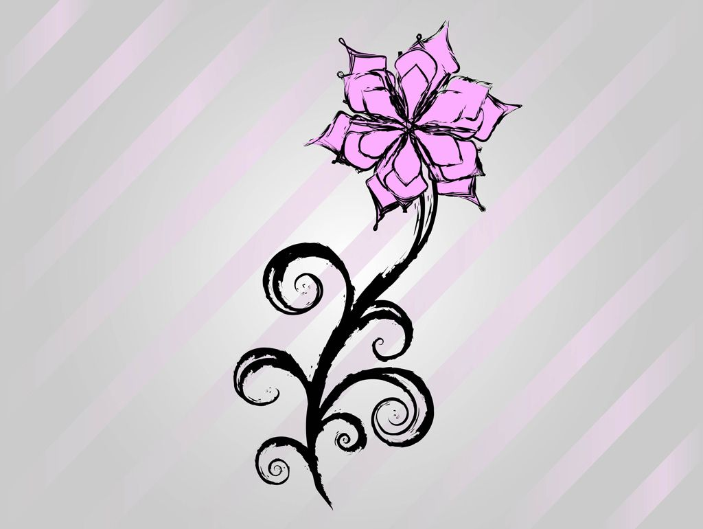 Cool Art Designs To Draw : Cool easy flower designs to draw on paper free vector