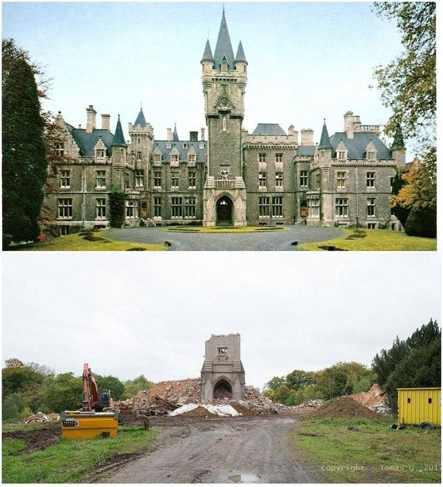 Château De Noisy, Belgium - Then Vs Now : Castles