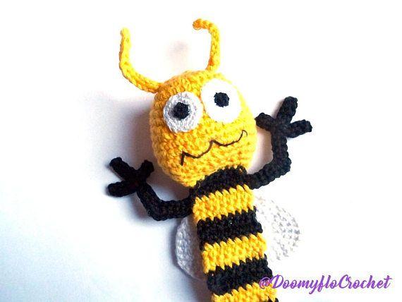 Diese Seiten Biene Marke erfolgt häkeln mit gelb, schwarz, weiße ...