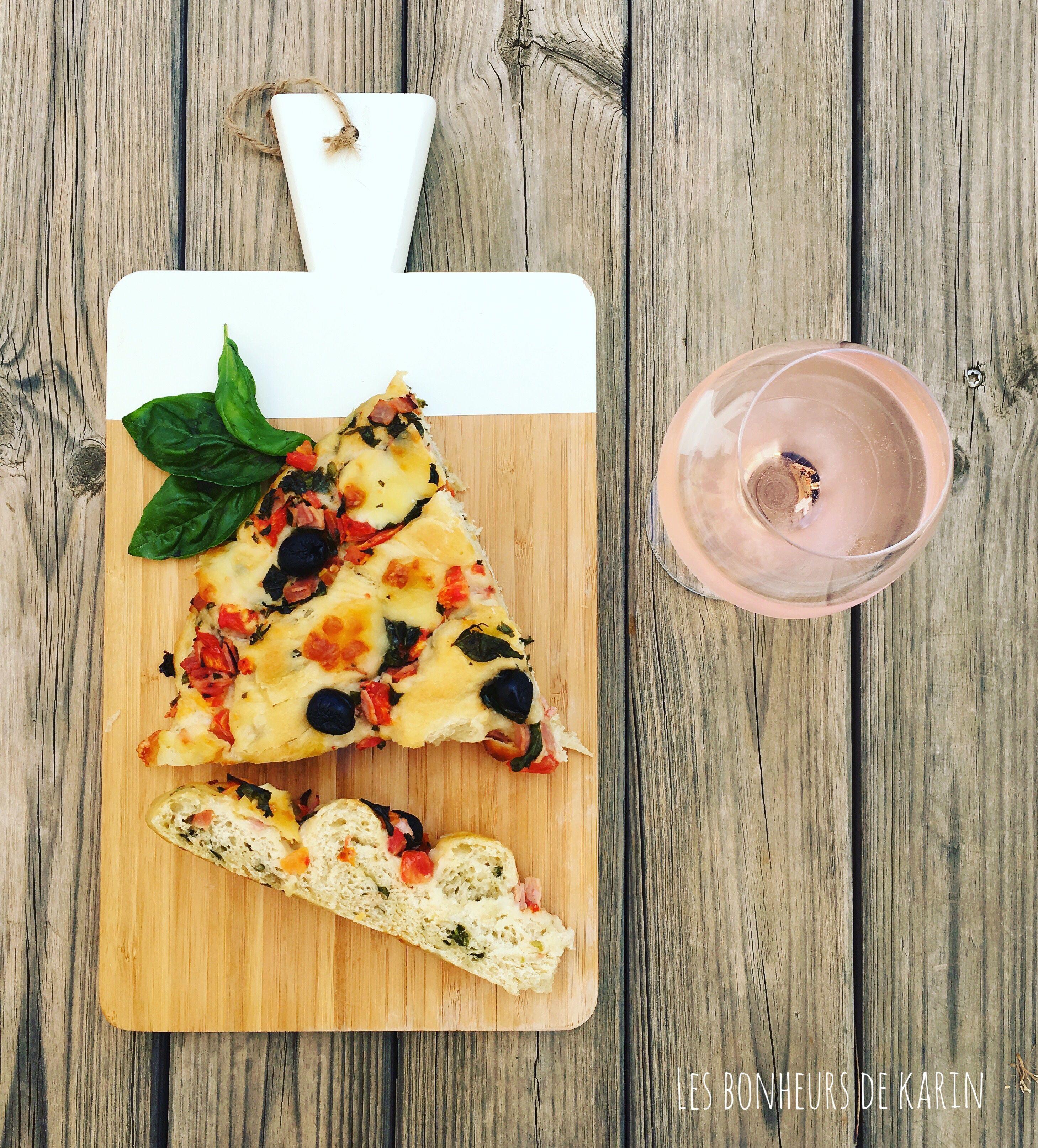 Pizza roulé et rosé ...