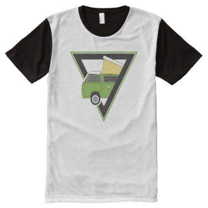 Triangle Classic Green Camper Van All Over Print Shirt