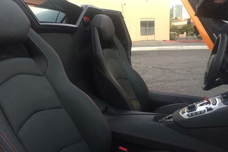Orange 2015 Lamborghini Aventador Convertible Interior Seats