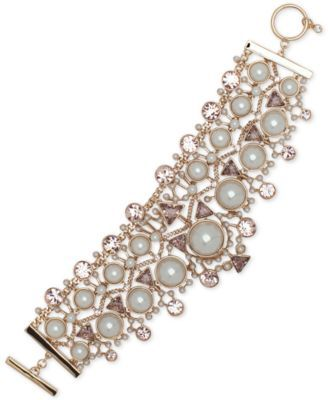 GIVENCHY Givenchy Crystal, Colored Stone &Amp; Imitation Pearl Flex Bracelet . #givenchy # all fashion jewelry