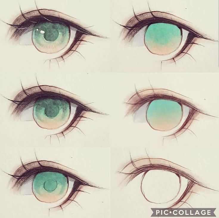 How To Color The Eye Color Anime Eye Drawing Anime Drawings Tutorials Eye Drawing