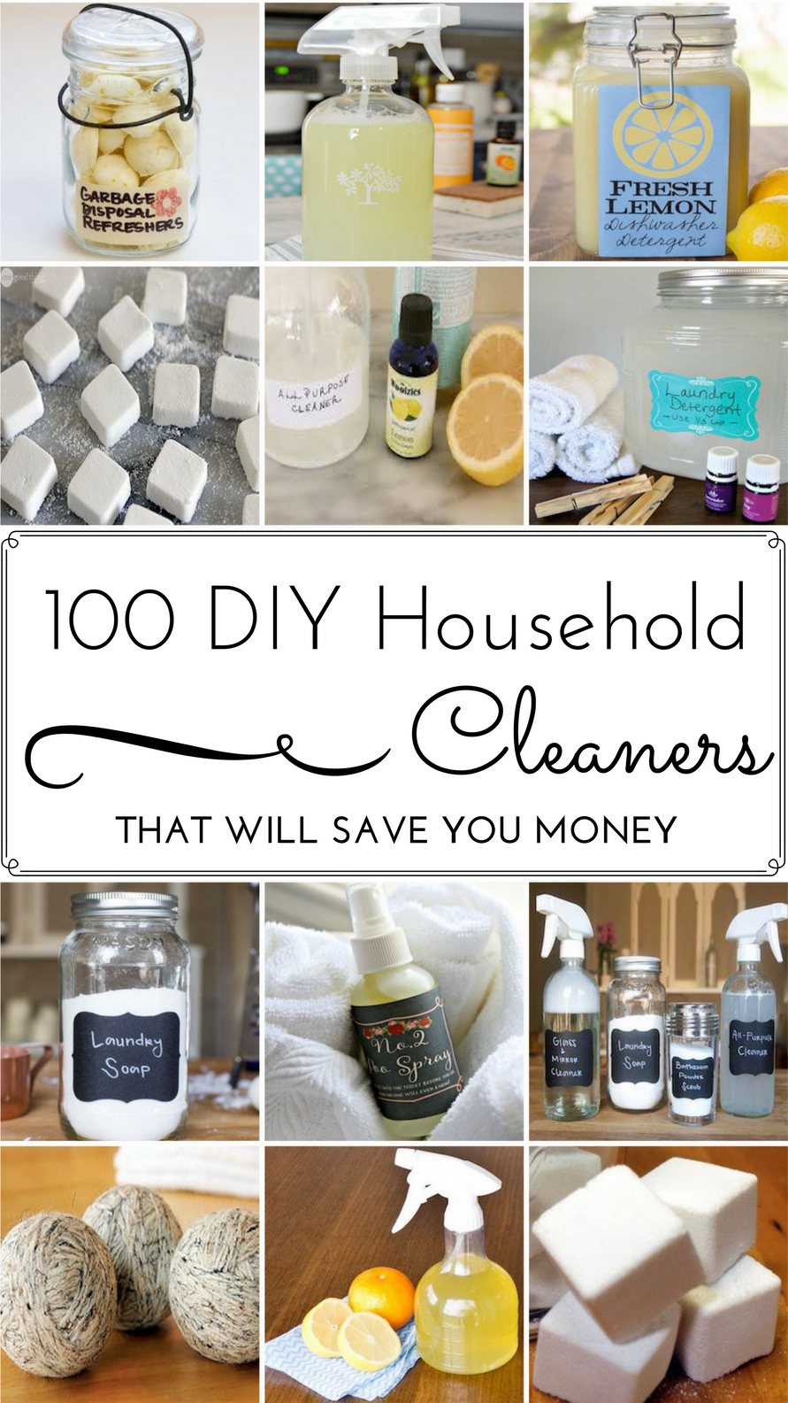 100 DIY Household Cleaner Recipes That Will Save You Money -   17 diy projects To Make Money baking soda ideas