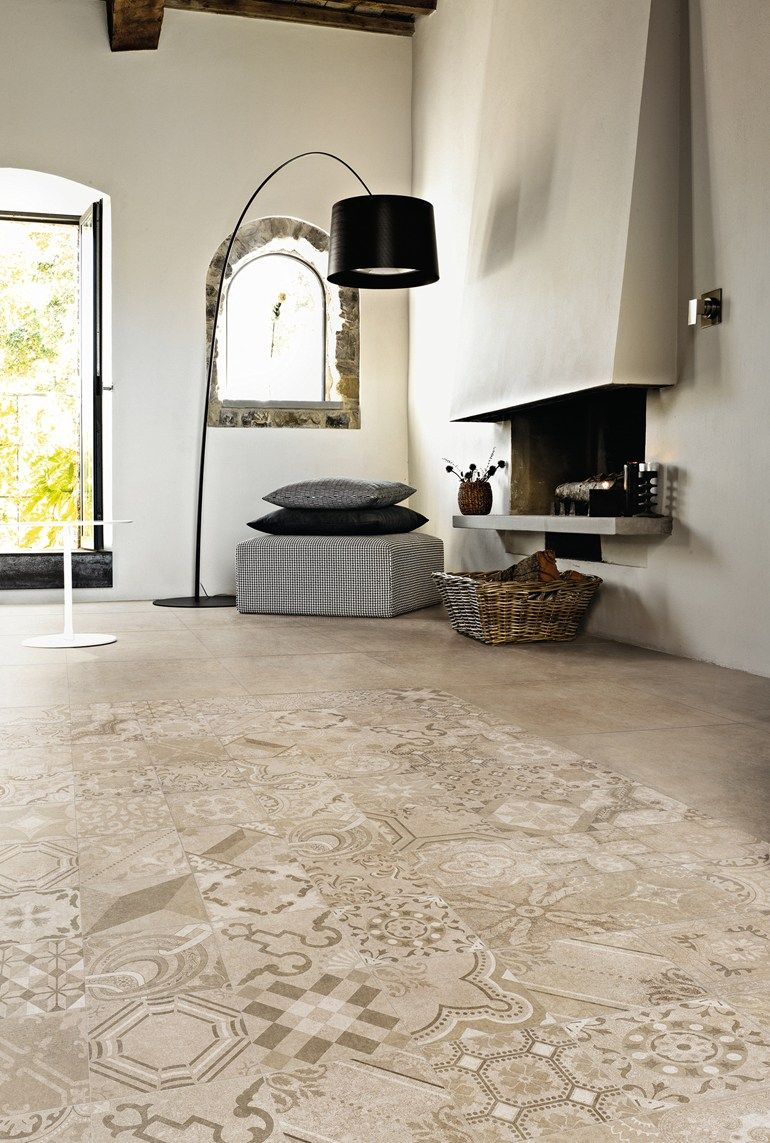 porcelain stoneware wall/floor #tiles with #concrete effect