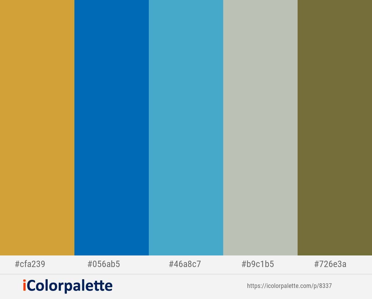 Old Gold Science Blue Pelorous Green Spring Yellow Metal Color Scheme Icolorpalette Red Colour Palette Blue Colour Palette Dark Olive Green