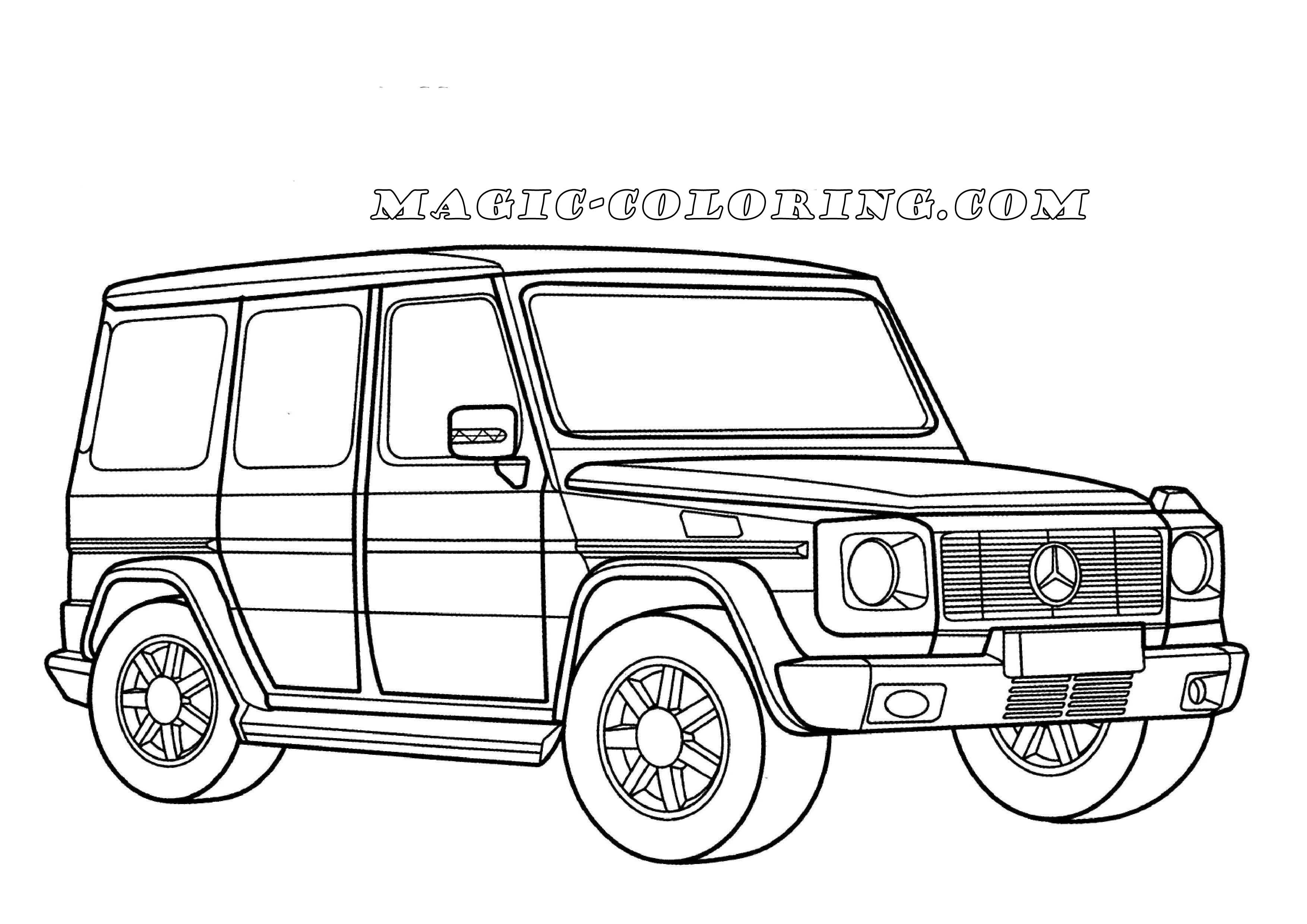 Mercedes G Class Coloring Page Cars Coloring Pages Coloring Pages Sports Coloring Pages