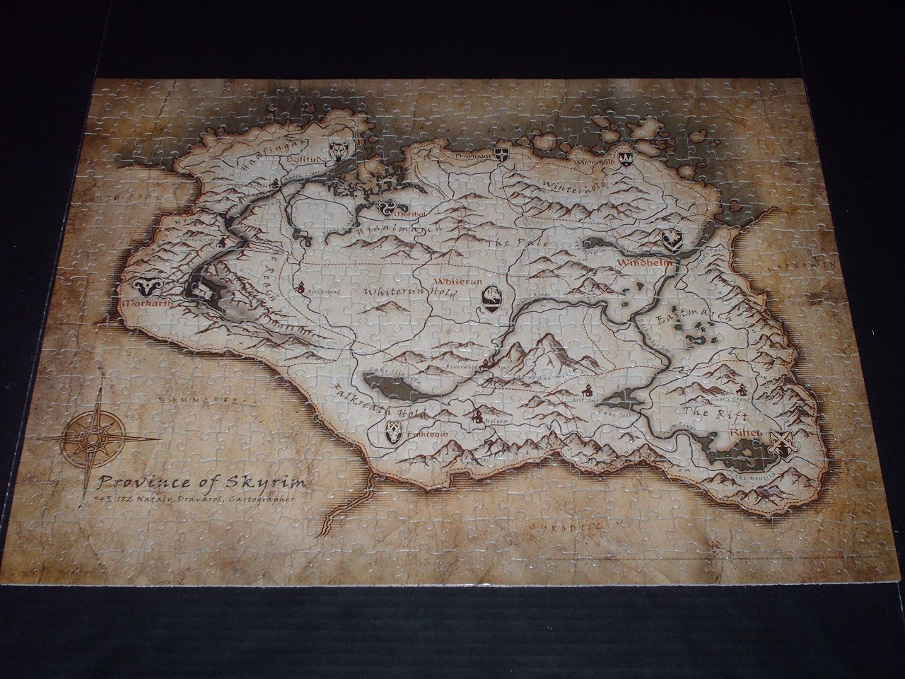 Jigsaw review the elder scrolls v skyrim map puzzle toys jigsaw review the elder scrolls v skyrim map puzzle gumiabroncs Image collections