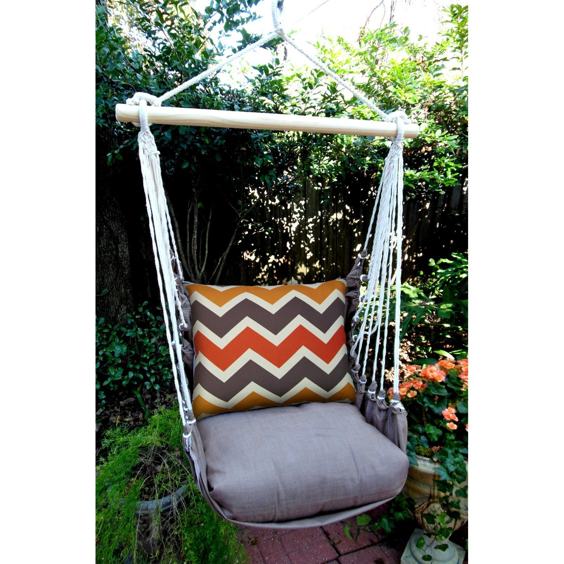 Outdoor magnolia casual retro chevron hammock chair u pillow set