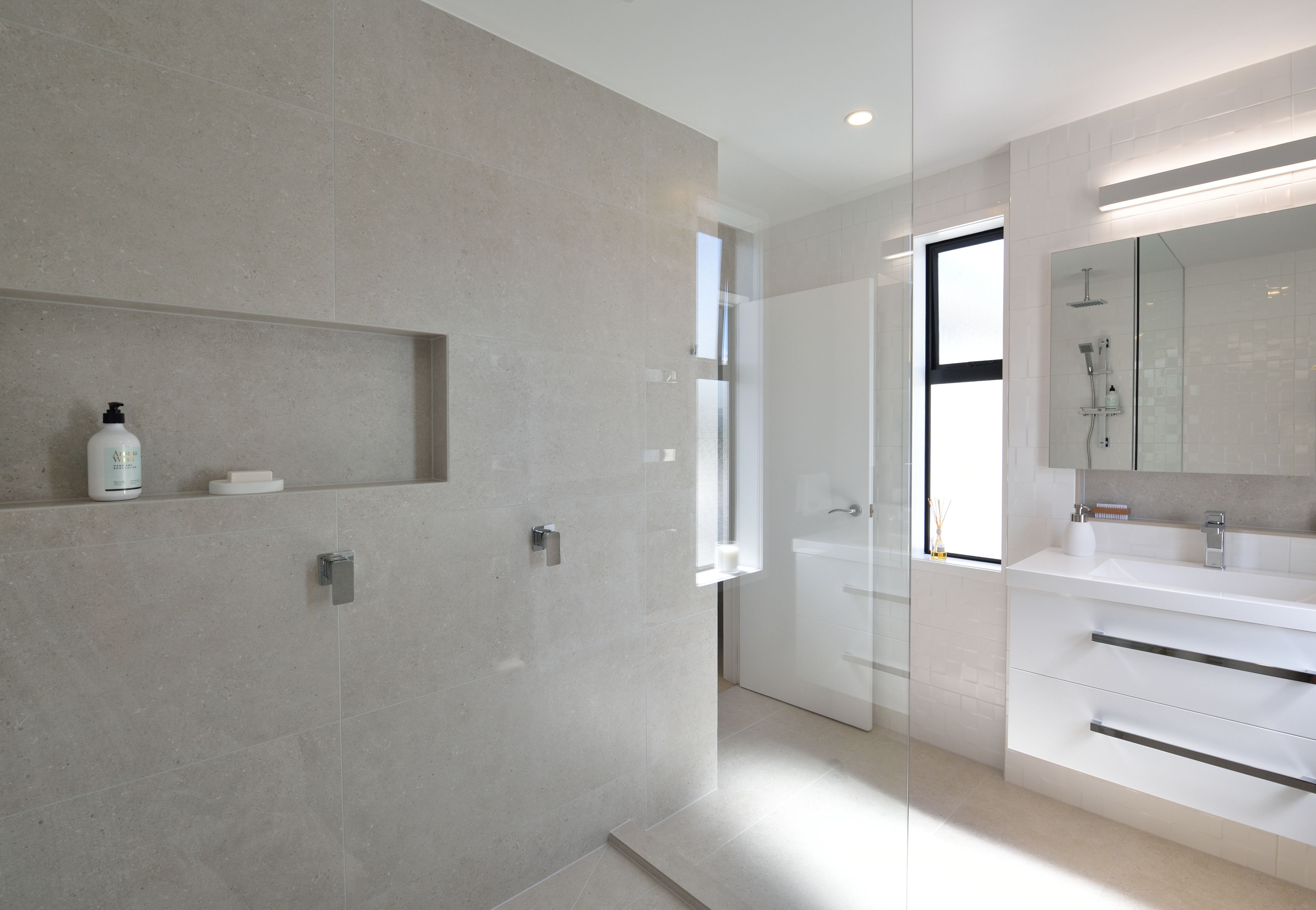 A Bathroom That Oozes Serenity And Sophistication Light Grey Bathrooms Bathrooms Direct Bathroom Design
