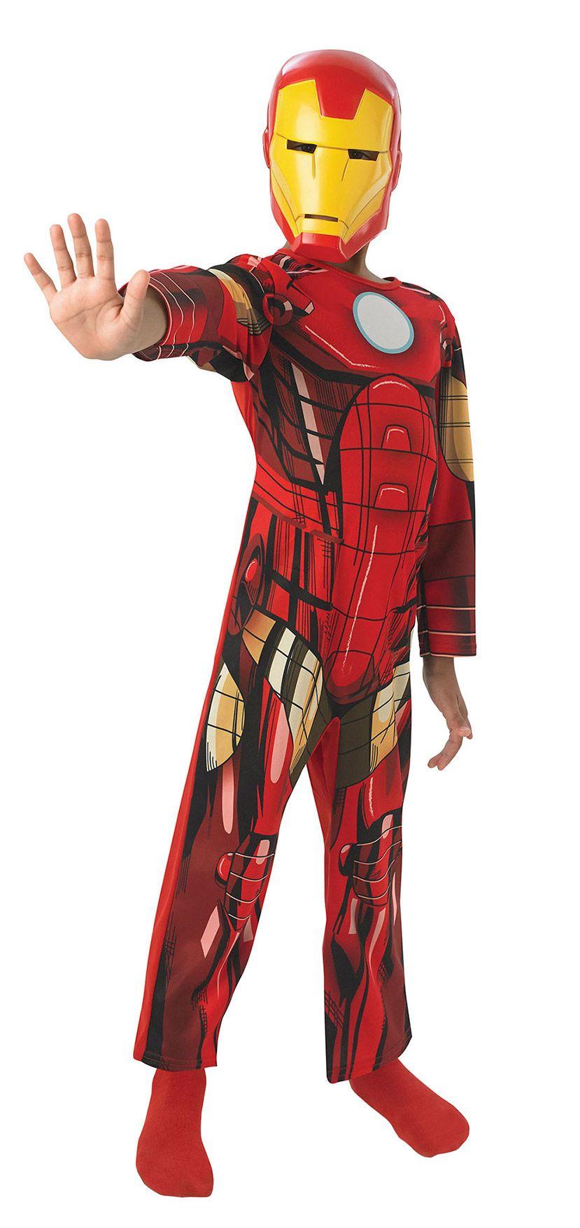 Avengers Iron Man Overall Kinderkostum Lizenzware Rot Gold Deguisement Iron Man Iron Man Deguisement