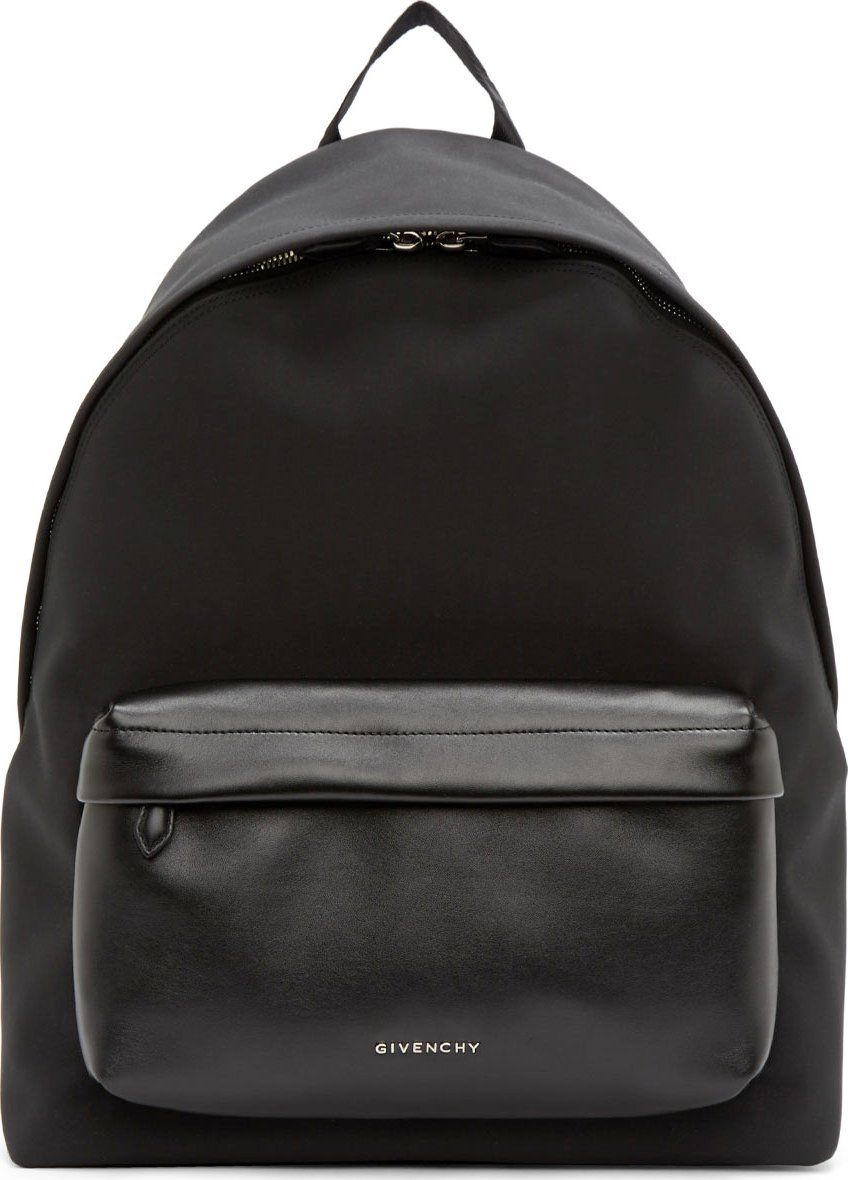 4a2896541031 Givenchy Black Neoprene   Leather Backpack