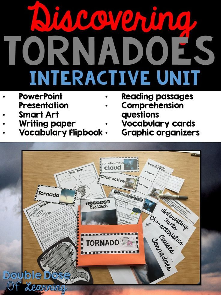 systematic and engaging unit for tornadoes includes powerpoint presentation smart art colorful vocabulary cards flipbook graphic organizers and more