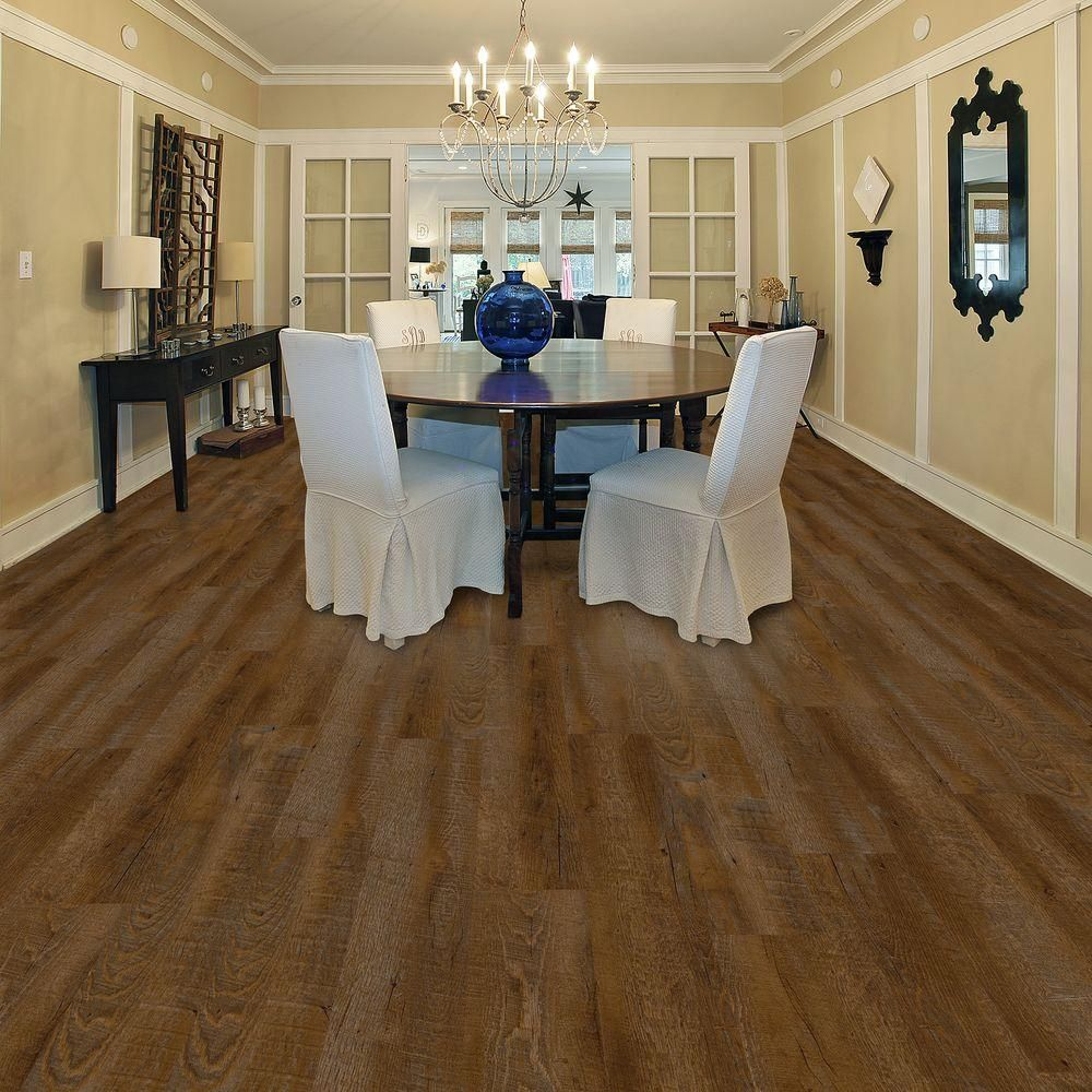 Trafficmaster Allure Ultra 7 5 In X 47 6 Sawcut Dakota Luxury Vinyl Plank Flooring