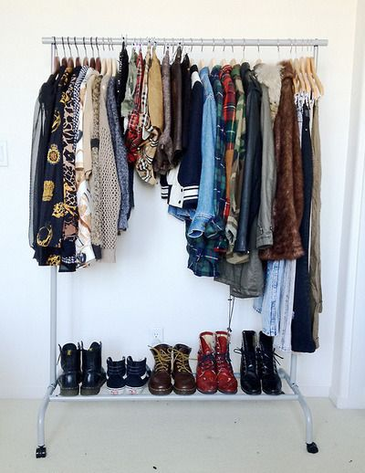 Small closet. I need a dress rack.