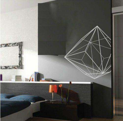 Create A Conversation Piece With Geometric Wall Decals Theyre - How do you put up a wall decal