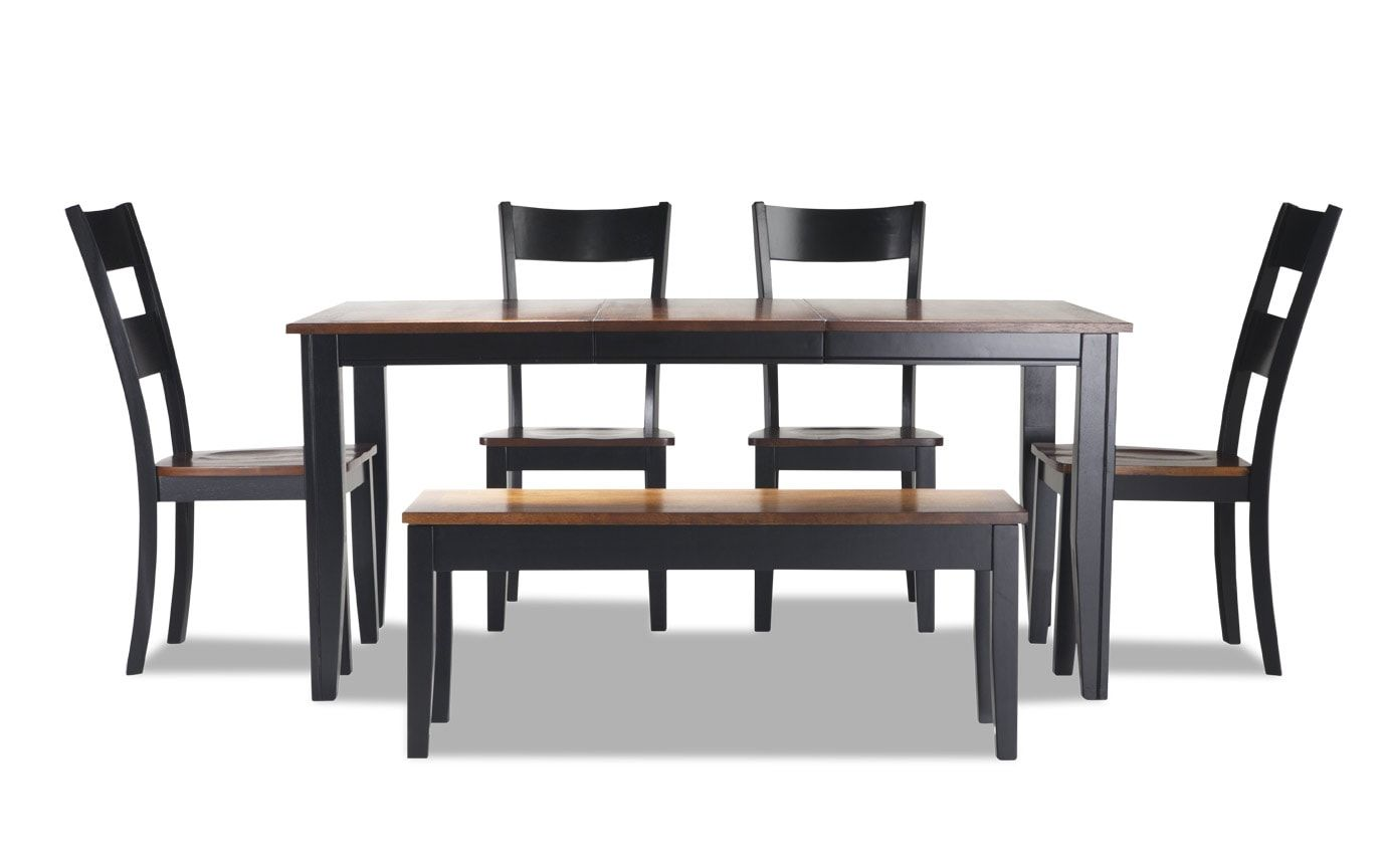 Discount Online Furniture Blake Dining 6 Piece Set With Storage Bench Bob S Discount