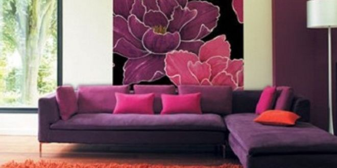 Wohnzimmer Lila - coole Einrichtungsideen im Lila - fresHouse - moderne farbgestaltung wohnzimmer